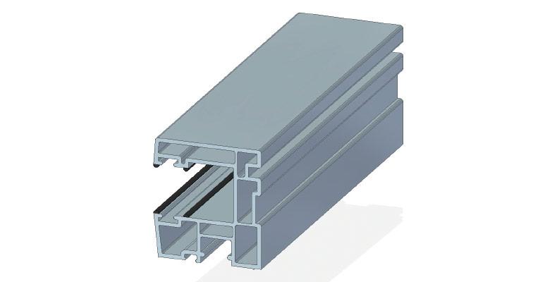 Rollladenlaufschiene, 47 x 43 mm