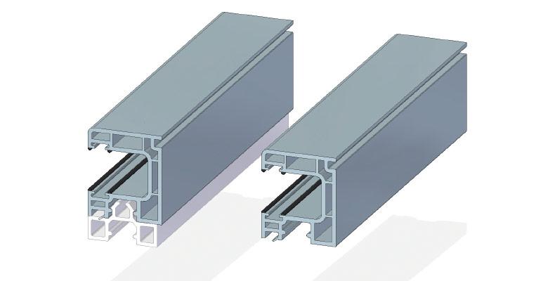 Rollladenlaufschiene 32 x 38 mm