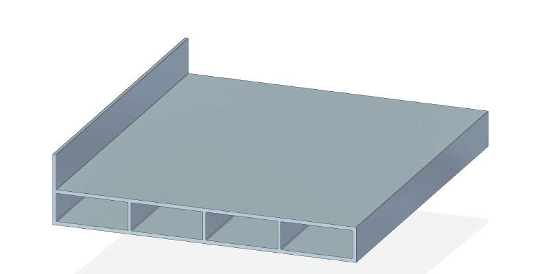 Deckleiste 130 x 15 mm