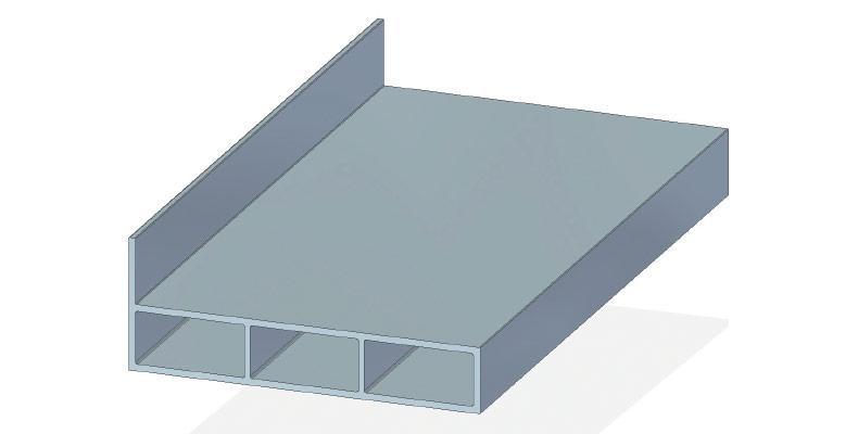 Deckleiste 80 x 15 mm