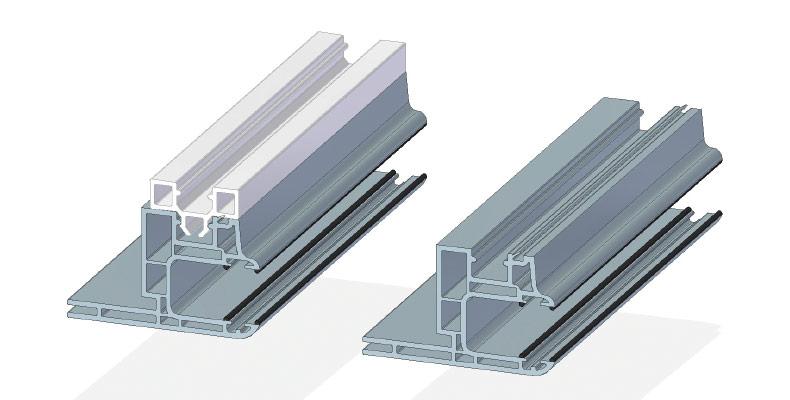 Rollladenlaufschiene 40 x 85 mm