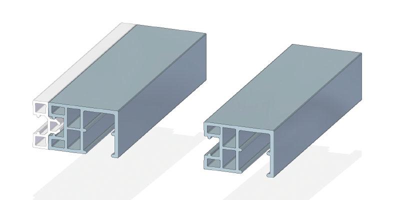 Rollladenlaufschiene 45 x 30 mm